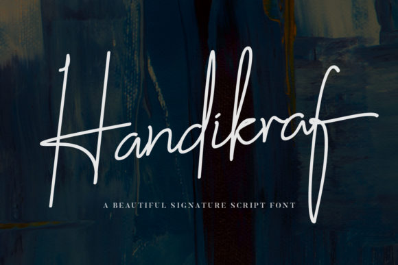 Print on Demand: Handikraf Script & Handwritten Font By TapaType