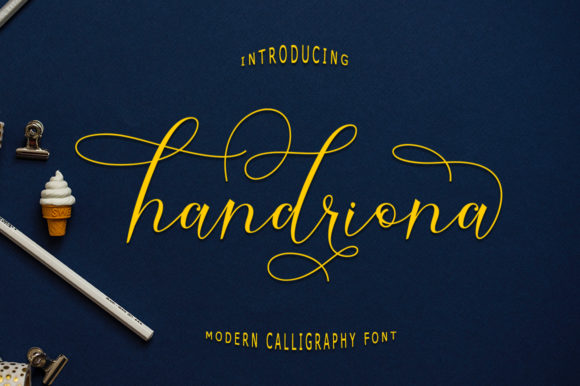Print on Demand: Handriona Script Script & Handwritten Font By rastype1010