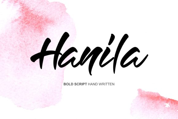 Print on Demand: Hanila Script & Handwritten Font By Home Sweet