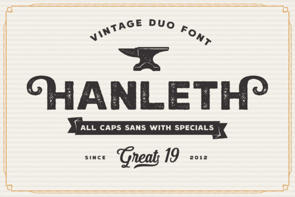 Print on Demand: Hanleth Family Display Font By great19 - Image 4