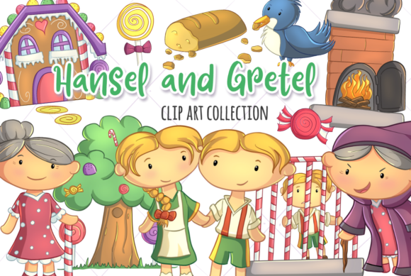 Download Free Hansel And Gretel Graphic By Keepinitkawaiidesign Creative Fabrica for Cricut Explore, Silhouette and other cutting machines.