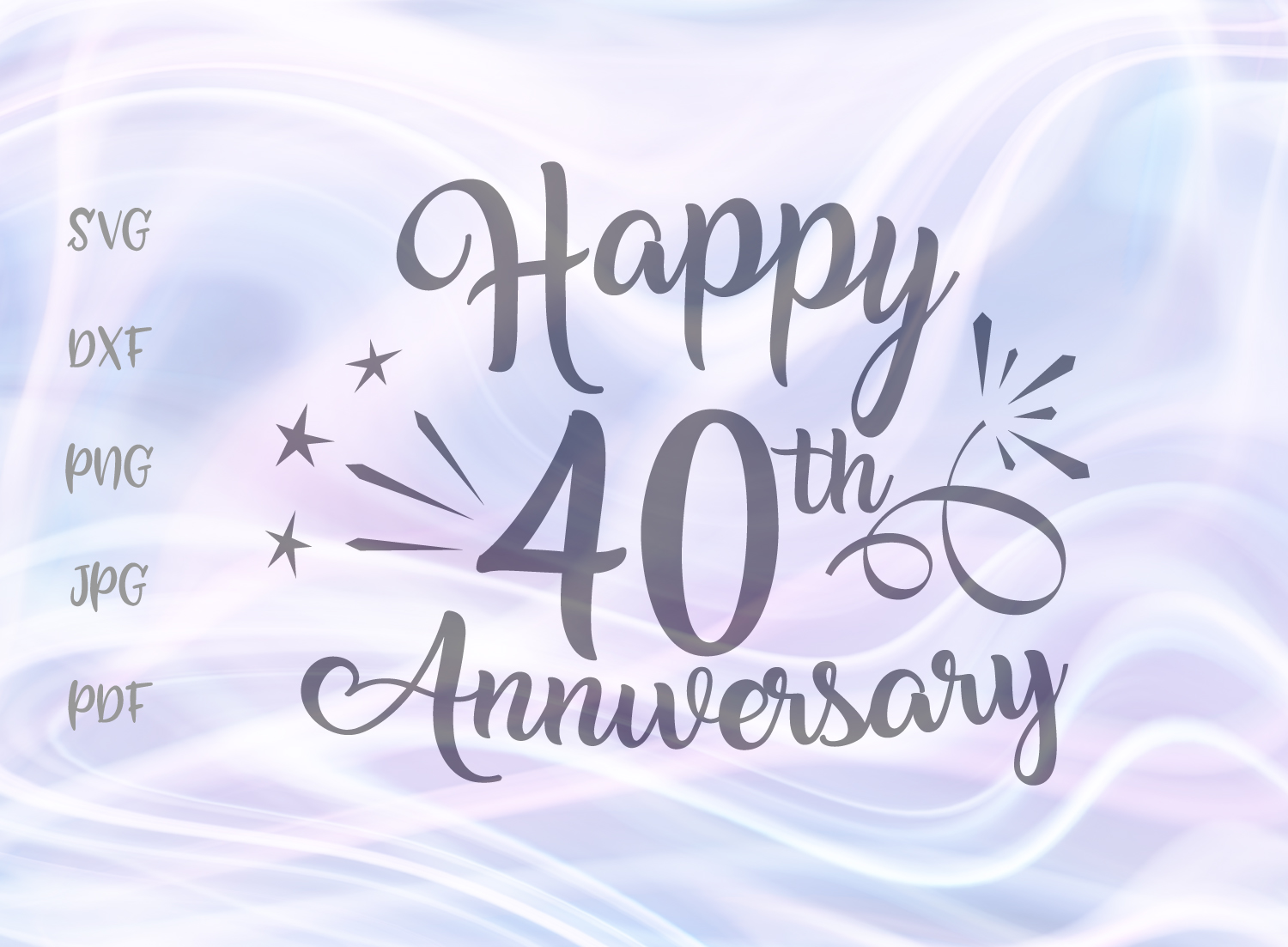 Download Free Happy 40th Anniversary Svg Graphic By Digitals By Hanna for Cricut Explore, Silhouette and other cutting machines.