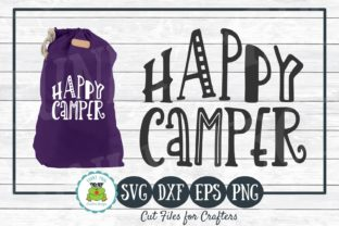 Download Free Happy Camper For Crafters Graphic By Funkyfrogcreativedesigns for Cricut Explore, Silhouette and other cutting machines.