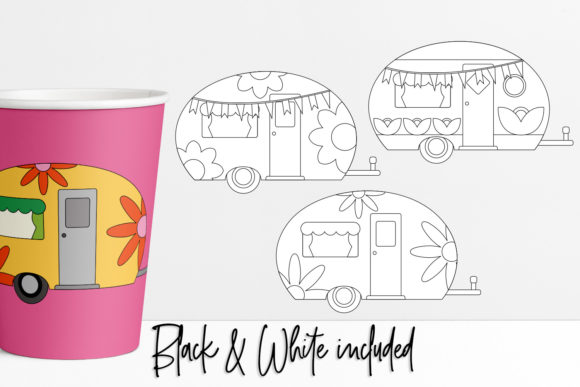 Download Free Happy Camper Graphic By Darrakadisha Creative Fabrica for Cricut Explore, Silhouette and other cutting machines.