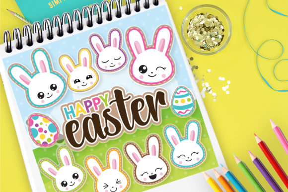 Print on Demand: Happy Easter Clip Art Graphic Illustrations By Prettygrafik