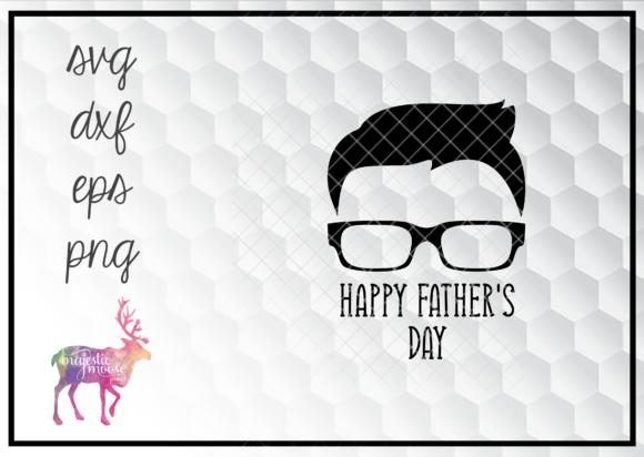 Print on Demand: Happy Father's Day Hipster Dad SVG Graphic Illustrations By majesticmooseprints