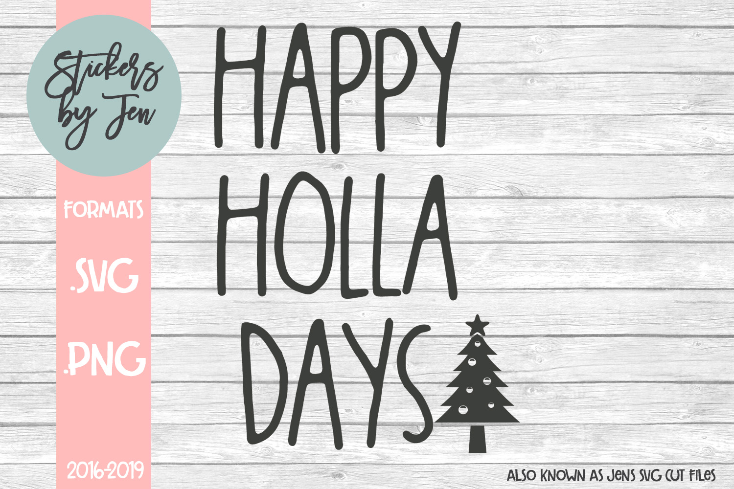 Download Free Happy Hola Days Svg Graphic By Stickers By Jennifer Creative for Cricut Explore, Silhouette and other cutting machines.