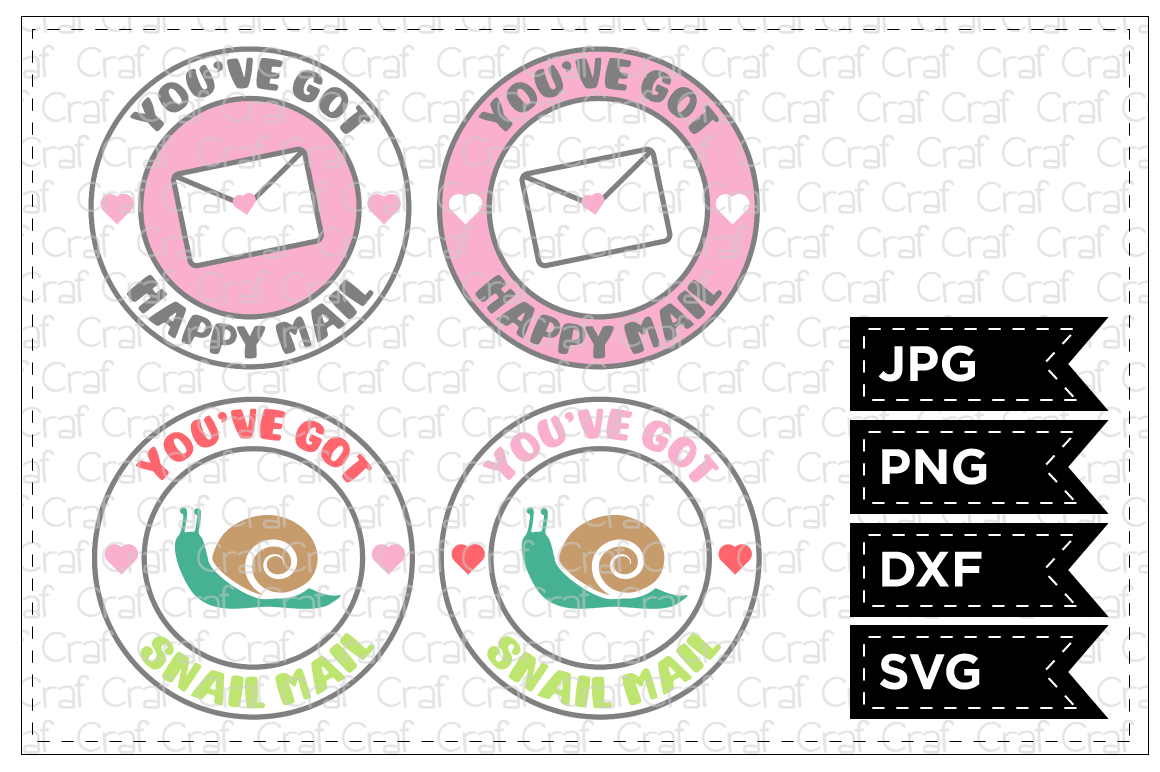 Download Free Happy Mail Snail Mail Graphic By Craf Craf Creative Fabrica for Cricut Explore, Silhouette and other cutting machines.