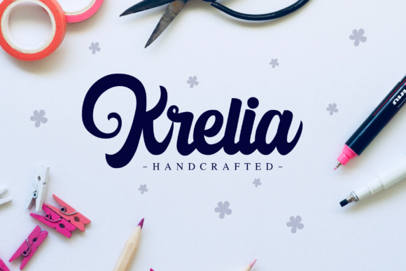 Print on Demand: Harilly Aleya Script & Handwritten Font By Holydie Studio - Image 2