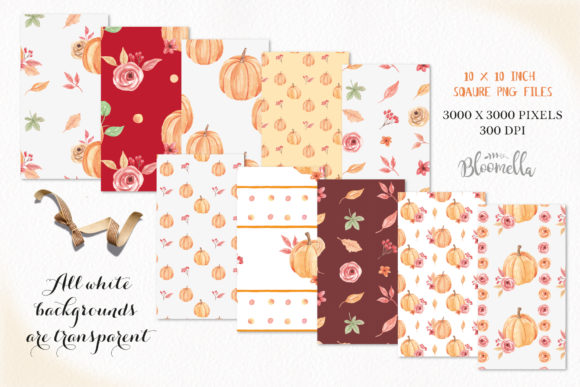 Harvest Festival Patterns Pumpkins Graphic By Bloomella