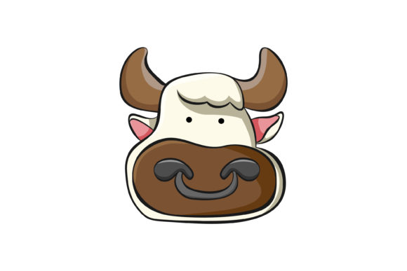 Print on Demand: Head a Cow Man Graphic Icons By noory.shopper