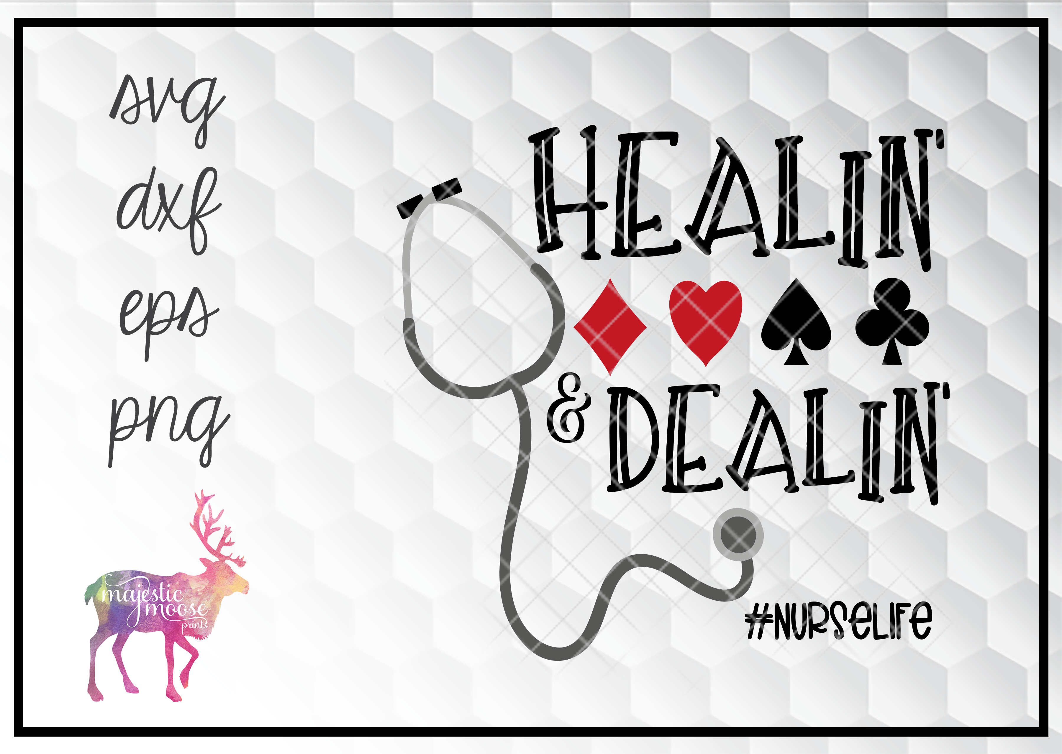 Download Free Healin And Dealin Nurse Playing Cards Graphic By for Cricut Explore, Silhouette and other cutting machines.
