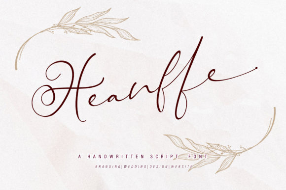 Print on Demand: Heanffe Script & Handwritten Font By thomasaradea