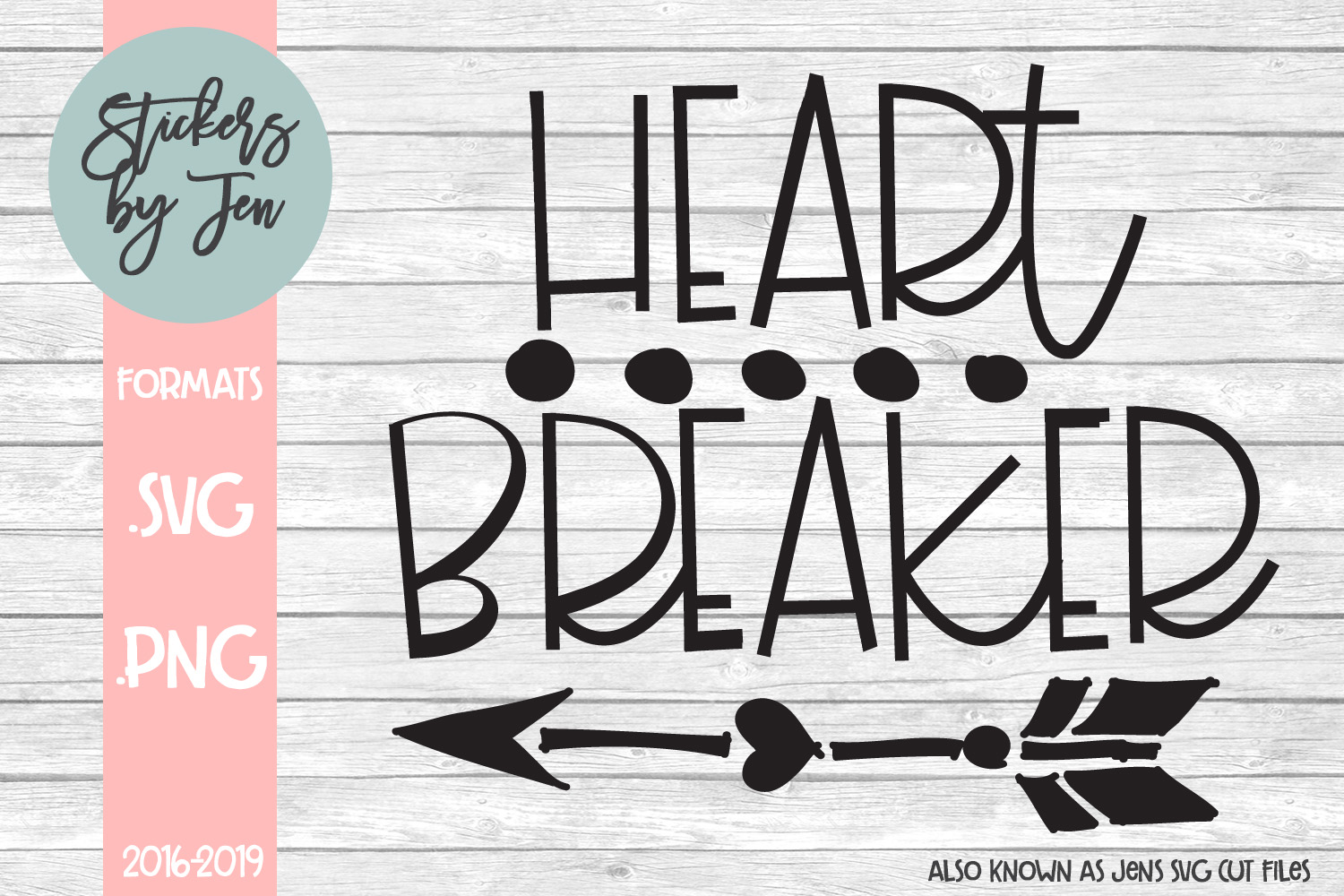 Download Free Heart Breaker Graphic By Stickers By Jennifer Creative Fabrica SVG Cut Files