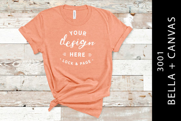 Heather Sunset Bella Canvas 3001 Mockup Graphic Product Mockups By lockandpage