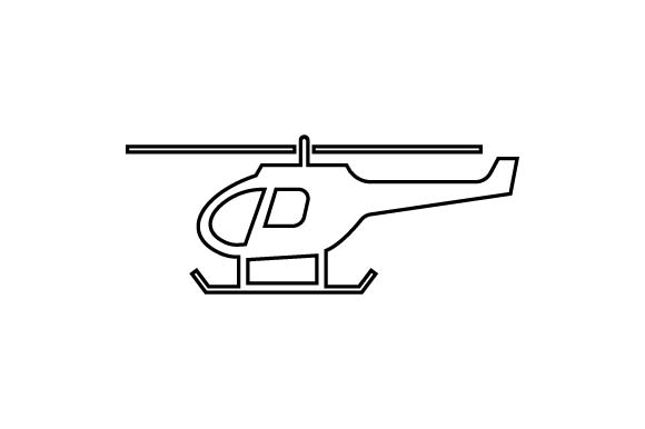 Download Free Helicopter Icon In Line Style Vector Graphic By Hoeda80 SVG Cut Files