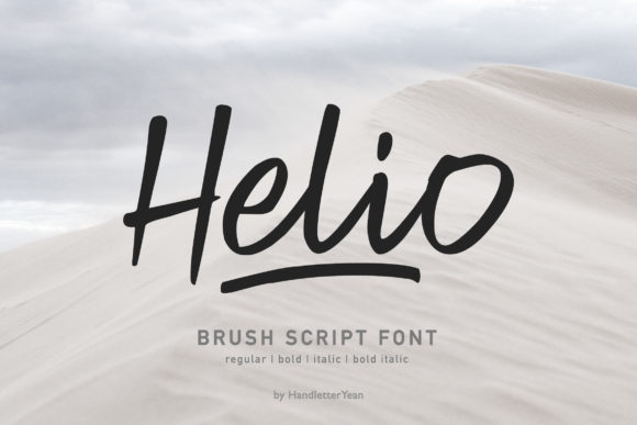 Print on Demand: Helio Script & Handwritten Font By yean.aguste