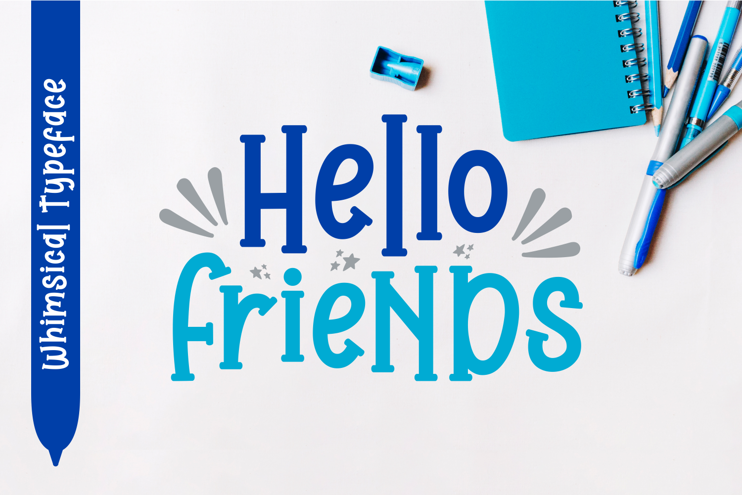Download Free Hello Friends Font By Dani 7ntypes Creative Fabrica for Cricut Explore, Silhouette and other cutting machines.