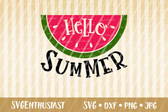 Hello Summer Cut File Graphic Crafts By SVGEnthusiast - Image 1