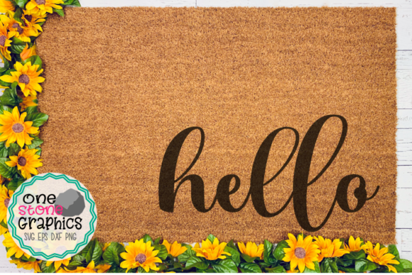 Hello Svg,hello Doormat Svg Graphic Crafts By OneStoneGraphics