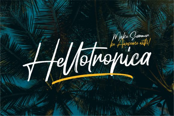 Print on Demand: Hellotropica Script & Handwritten Font By Garisman Studio