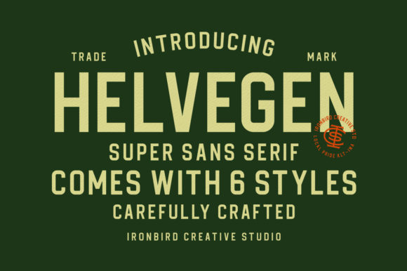 Print on Demand: Helvegen Sans Serif Schriftarten von ironbirdcreative