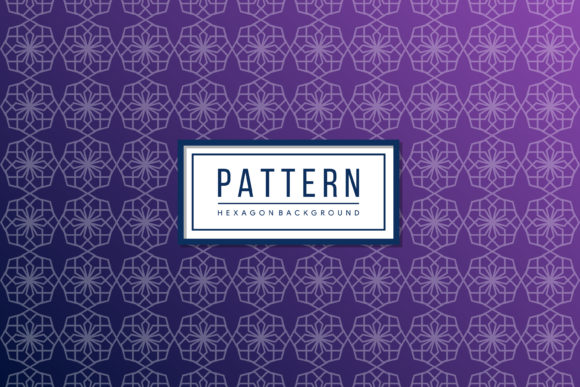 Print on Demand: Hexagon Pattern Gradient Blue Purple Graphic Patterns By noory.shopper - Image 1