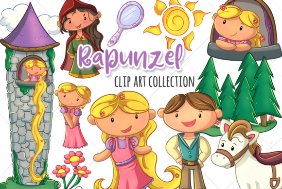 Print on Demand: Hidden Tower Fairy Tale Graphic Illustrations By Keepinitkawaiidesign