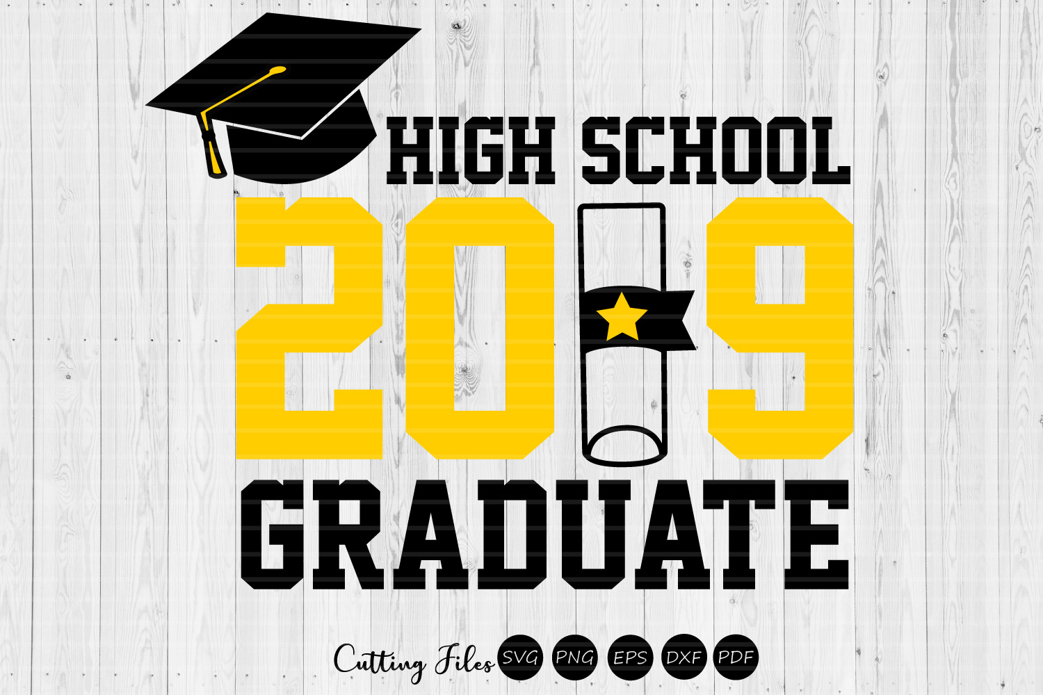 Download Free High School Gradute Graduation Svg Graphic By Hd Art Workshop for Cricut Explore, Silhouette and other cutting machines.