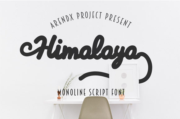 Print on Demand: Himalaya Script & Handwritten Font By Arendxstudio