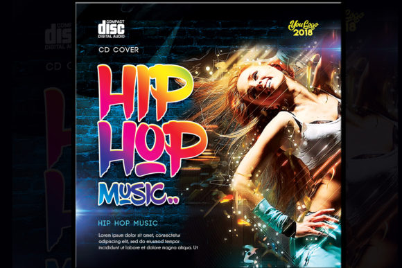 Hip Hop Music Cd Cover Psd Template Graphic By