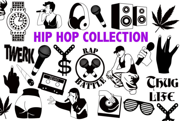 Hip Hop SVG Collection Graphic Crafts By Mine Eyes Design