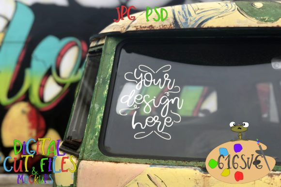 Hippie Van Mockup Front View Graphic Product Mockups By 616SVG