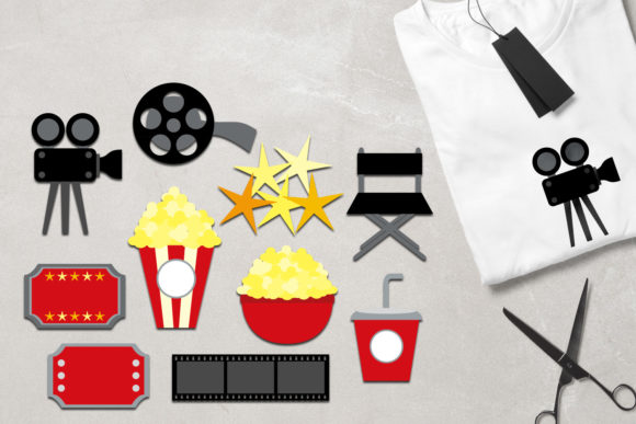 Print on Demand: Hollywood Movie Night Graphic Illustrations By Revidevi