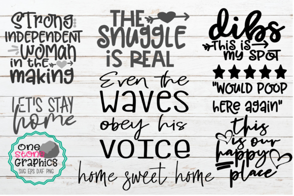 Home Decor Bundle,sign Bundle,pillow Svg Graphic Crafts By OneStoneGraphics
