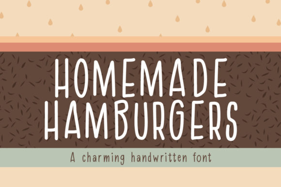 Print on Demand: Homemade Hamburgers Script & Handwritten Font By Reg Silva Art Shop