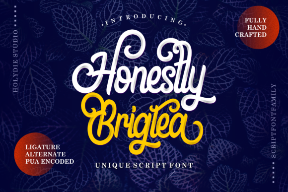 Print on Demand: Honestly Brigtea Script & Handwritten Font By Holydie Studio