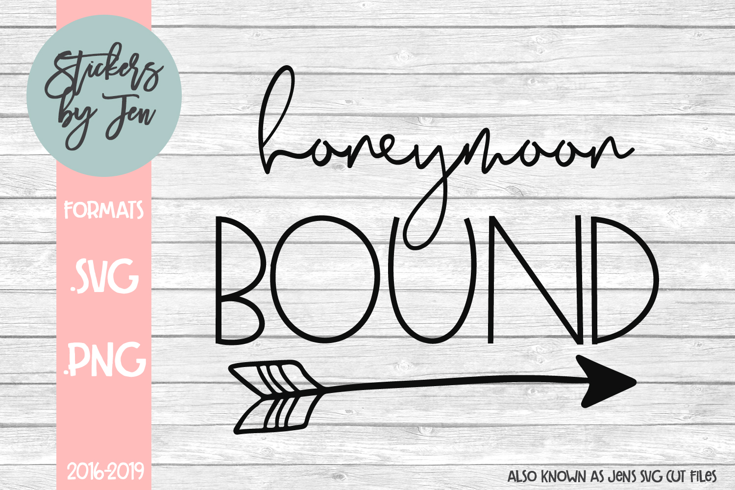Download Free Honeymoon Bound Svg Graphic By Stickers By Jennifer Creative for Cricut Explore, Silhouette and other cutting machines.