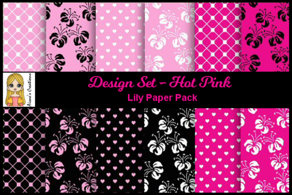 Hot Pink - Lily Paper Pack Graphic By Aisne