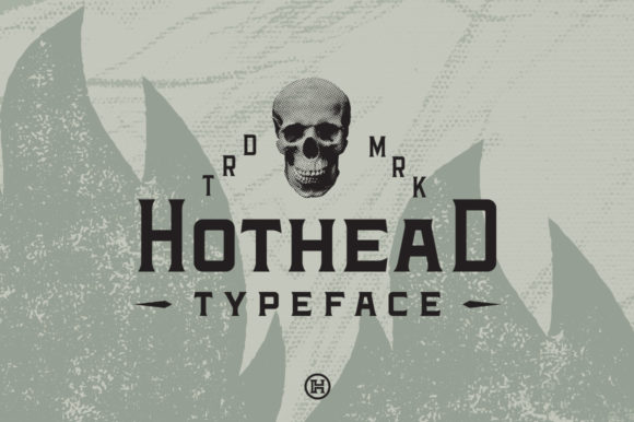 Print on Demand: Hothead Serif Font By Headfonts
