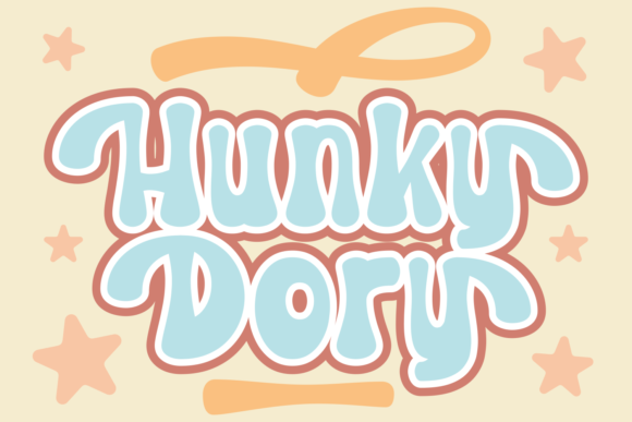 Print on Demand: Hunky Dory Display Font By Rifki (7ntypes)