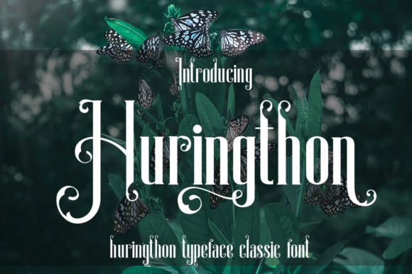 Print on Demand: Huringthon Display Font By jehansyah251