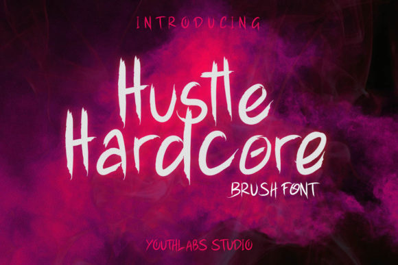 Print on Demand: Hustle Hardcore Display Font By youthlabs