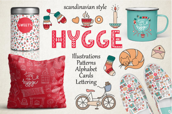 Hygge Collection Grafik Illustrationen von Alisovna