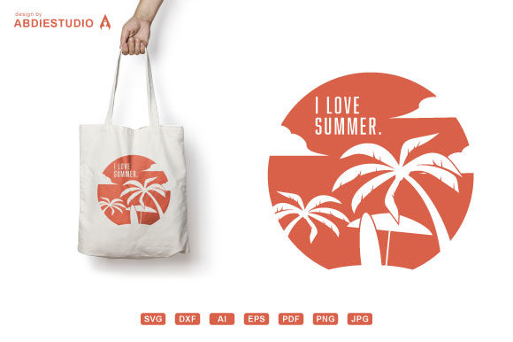 Download Free I Love Summer Svg Tropical Island Surf Graphic By Abdie for Cricut Explore, Silhouette and other cutting machines.