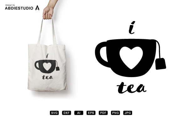 Download Free I Love Tea Svg Tea Cup Svg Tea Mug Svg Graphic By Abdie Creative Fabrica for Cricut Explore, Silhouette and other cutting machines.