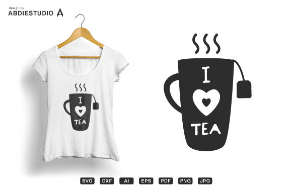 Download Free I Love Tea Svg Tea Long Mug Svg Graphic By Abdie Creative Fabrica for Cricut Explore, Silhouette and other cutting machines.
