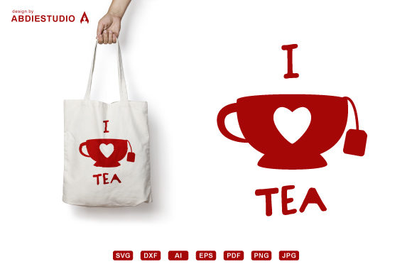 Download Free I Love Tea Svg Tea Mug Svg Tea Lover Graphic By Abdie for Cricut Explore, Silhouette and other cutting machines.