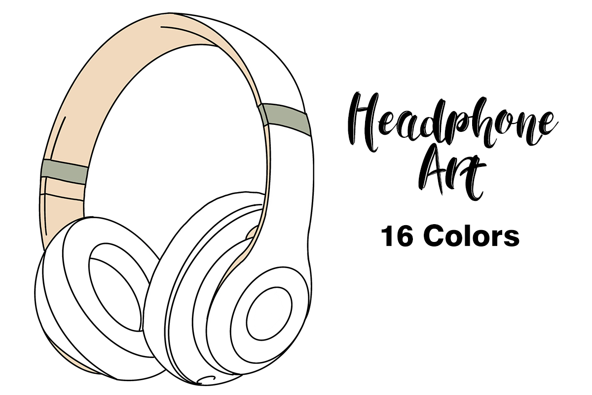 Download Free Illustrated Headphones Graphic By Annex Creative Fabrica for Cricut Explore, Silhouette and other cutting machines.