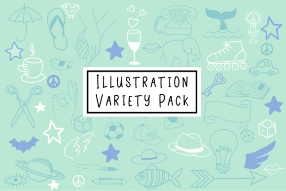 Illustration Variety Pack Graphic Illustrations By carrtoonz